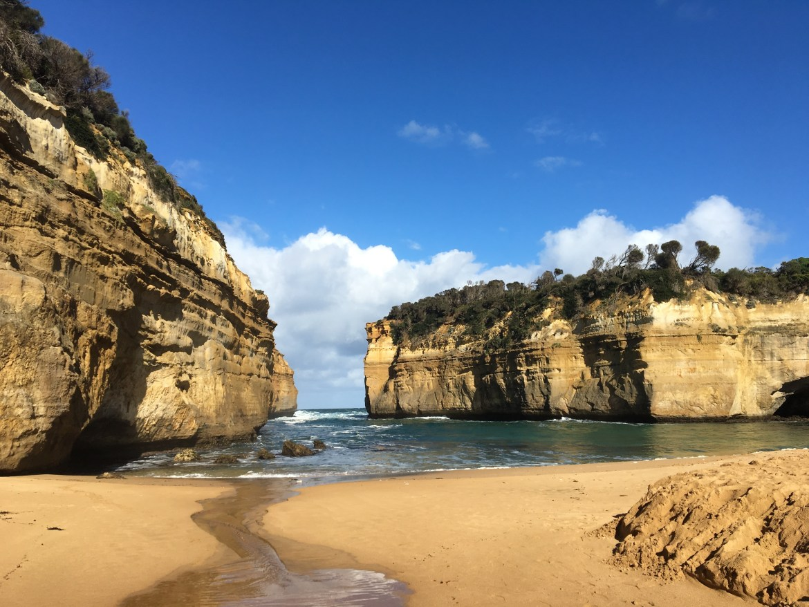 Loch and gorge off great ocean road in australia