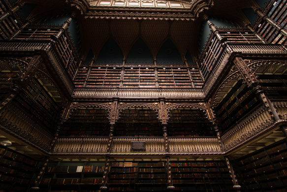 Photo compliment of Atlas Obscura Royal Portuguese Reading Cabinet