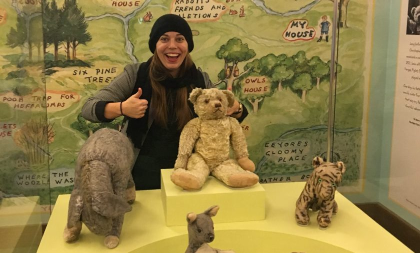 visiting the original pooh bear at the ny public library