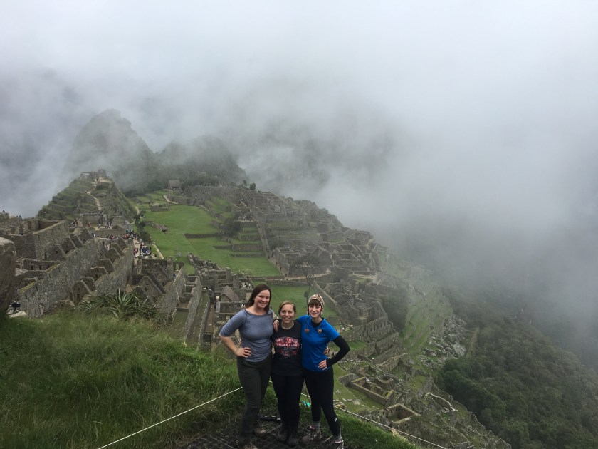 at Machu Picchu after the inca trail