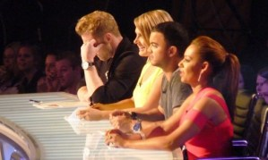 X-factor judges at the auditions
