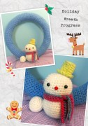 Original Snow Person, Snow Wreath inspired by RepeatCrafterMe
