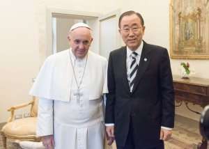pope and united nations leader