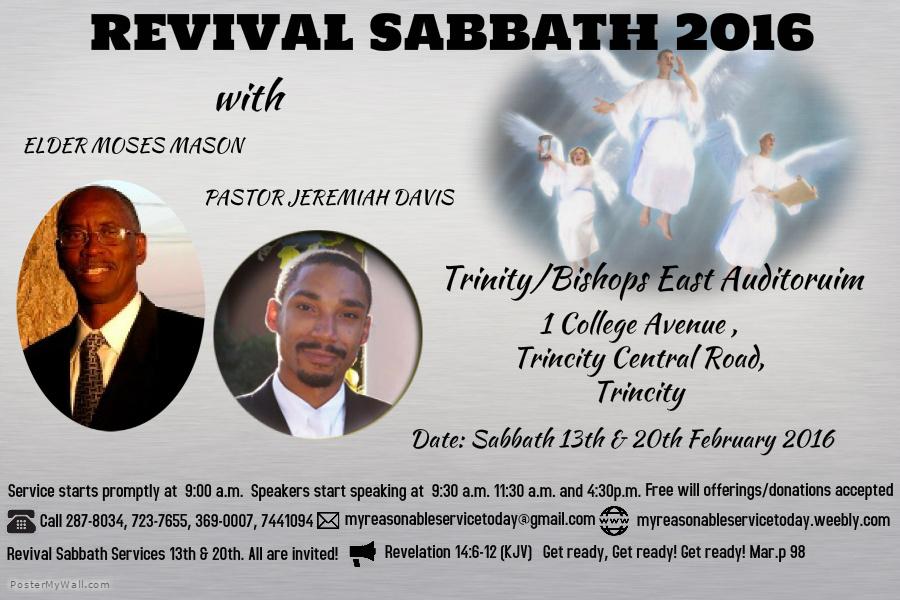 Revival Sabbaths Poster
