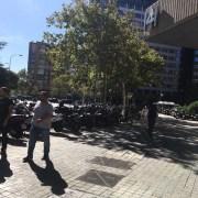 В Мадриде много мотоциклов