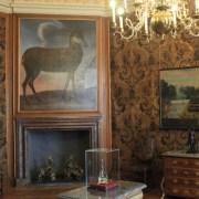 Одна из комнат замка Морицбург. Кожаные обои.