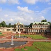 Цвингер, Внутренний двор с фонтанами