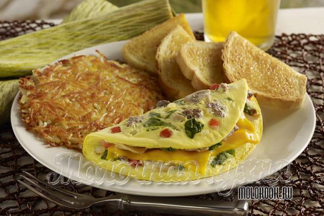 Método de fornecimento de omelete com enchimento