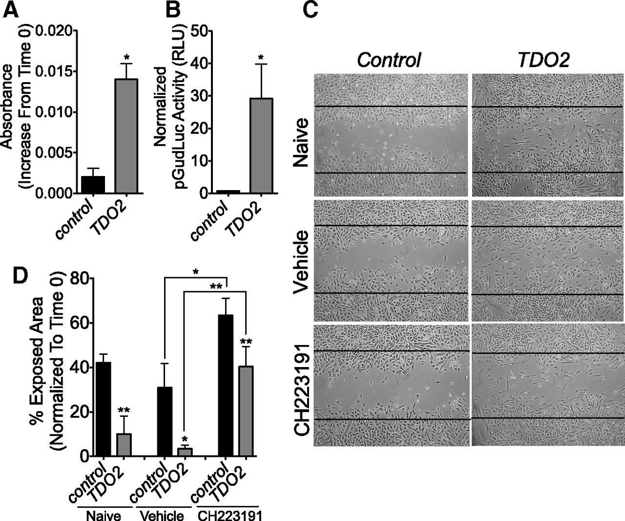 An Aryl Hydrocarbon Receptor Mediated Amplification Loop That Enforces Cell Migration In Er Pr