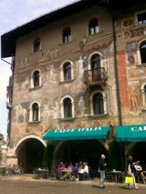 Painted buildings in Trento