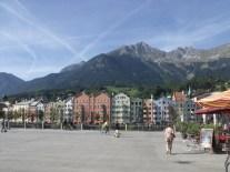 Coloured buildings in Innsbruck