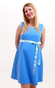 Bleu de France Retro Maternity Dress