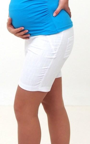 White Maternity Shorts