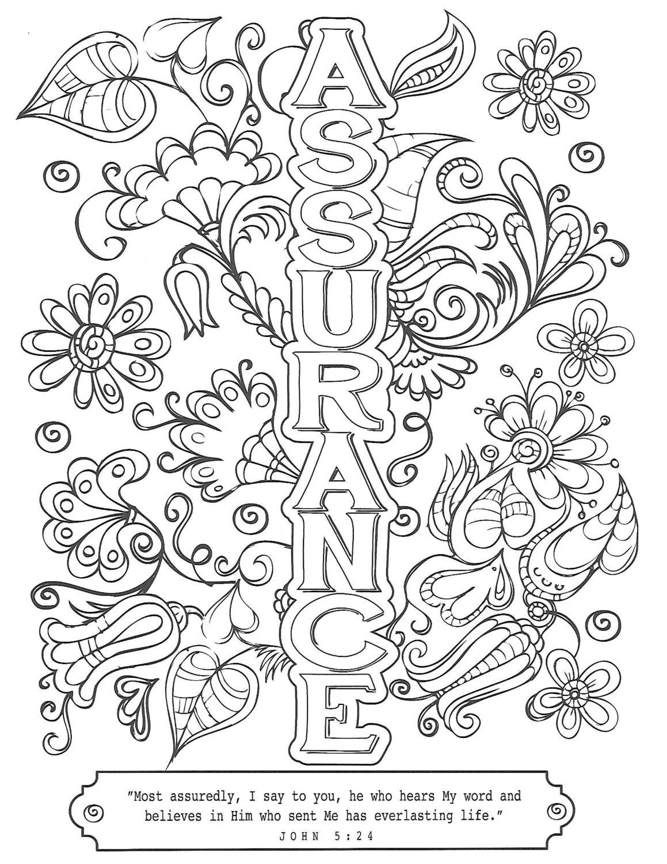 Assurance Free Printable