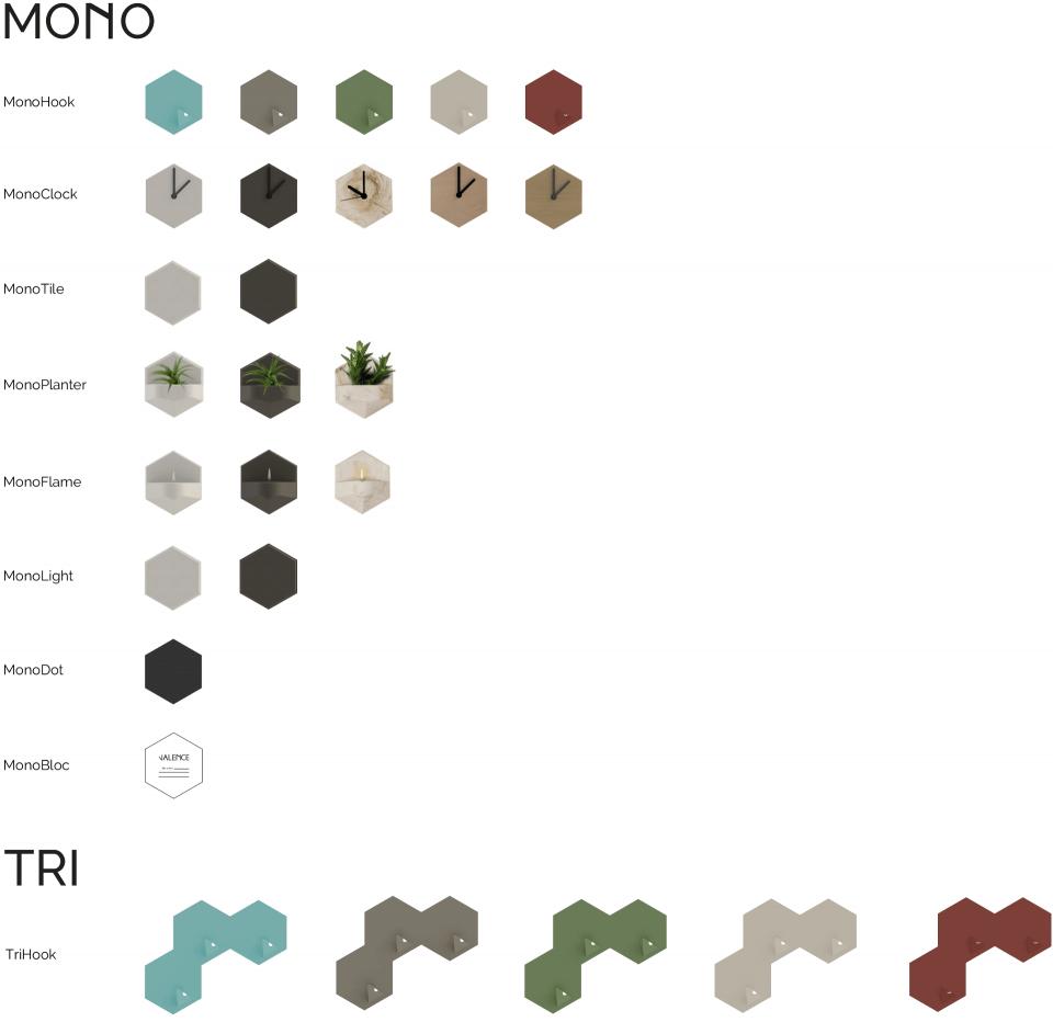 valence design monohook trihook