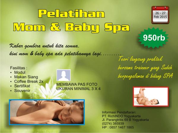 pelatihan mom and baby spa Februari 2015