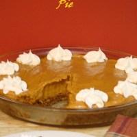 Creamy Biscoff Pumpkin Pie with Biscoff Crust