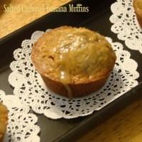Salted Caramel Banana Muffins