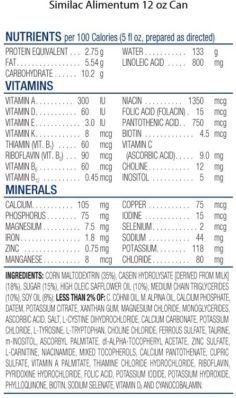 Similac AlimentumIngredients