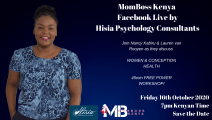 HISIA PSYCHOLOGY CONSULTANTS MOMBOSS FACEBOOK LIVE