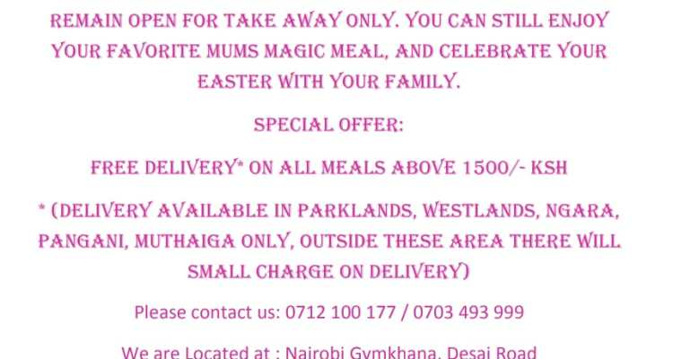 EASTER HOLIDAY SPECIAL