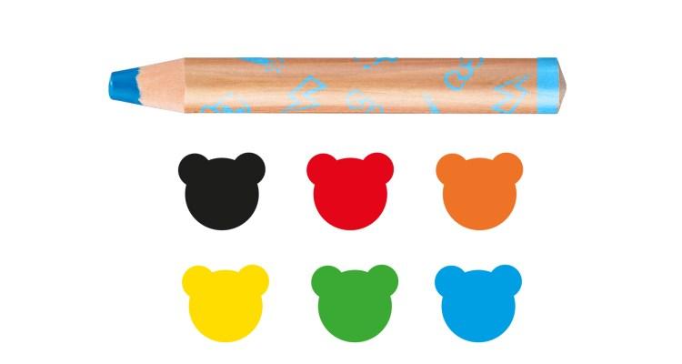 Carioca Baby 3/1 Wooden Crayons