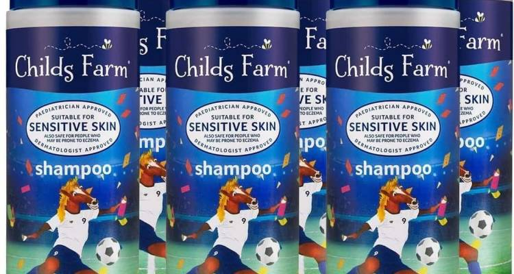 Childs Farm shampoo, organic rhubarb & custard