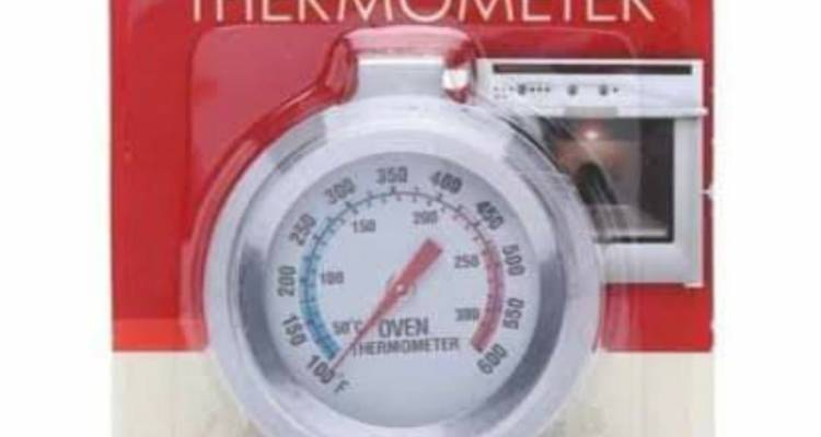Grunwerg TMO-520S Oven Thermometer, Stainless Steel