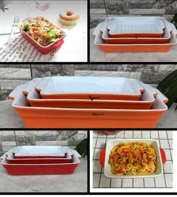 Ceramic baking tins