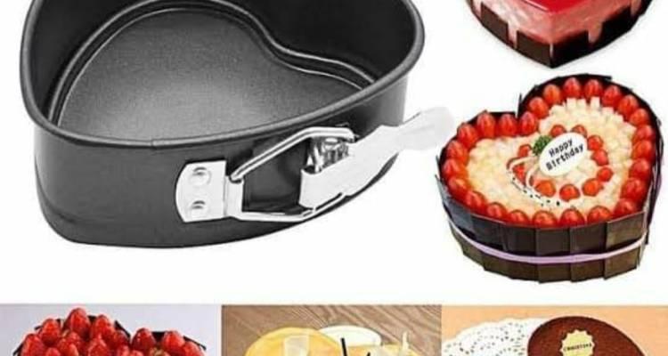 Bakeware Spring Foam 8 x 23 cm heart shape pan