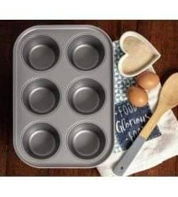 Baker & Salt Jumbo Muffin Tin, 6 Cups – Cup diameter 9cm*