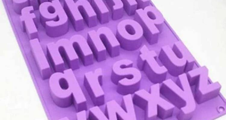 This large lower case letter silicon mould