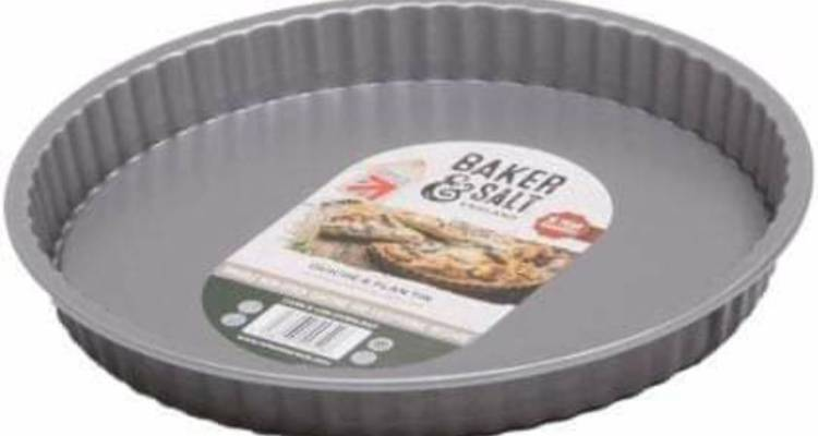 Baker & Salt Non-Stick Fluted Quiche/Flan Tin with Loose Base, 23.5cm