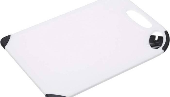 Kitchen Craft Sharpen & Chop Cutting Board with Knife Sharpener, White, 25 x 36 cm