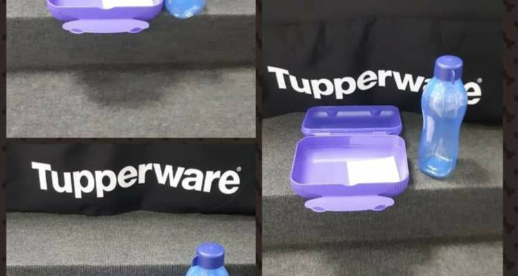 Tupperware On The Go Luncher (1.1 L) and ECO Bottle (750 ml)