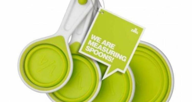 Premier Measuring Cups,Lime Green Silicone/White – Set of 4/Collapsible
