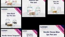 Luminarc Glass Food Storage Jar – 0.5 L, 0.75 L, 1 L ,Pack Of 3