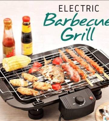 Electric Barbeque Grill for Outdoor/Indoor Cooking