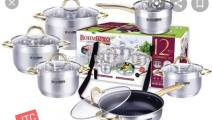 Bohminox 12 pc stainless steel cookware set
