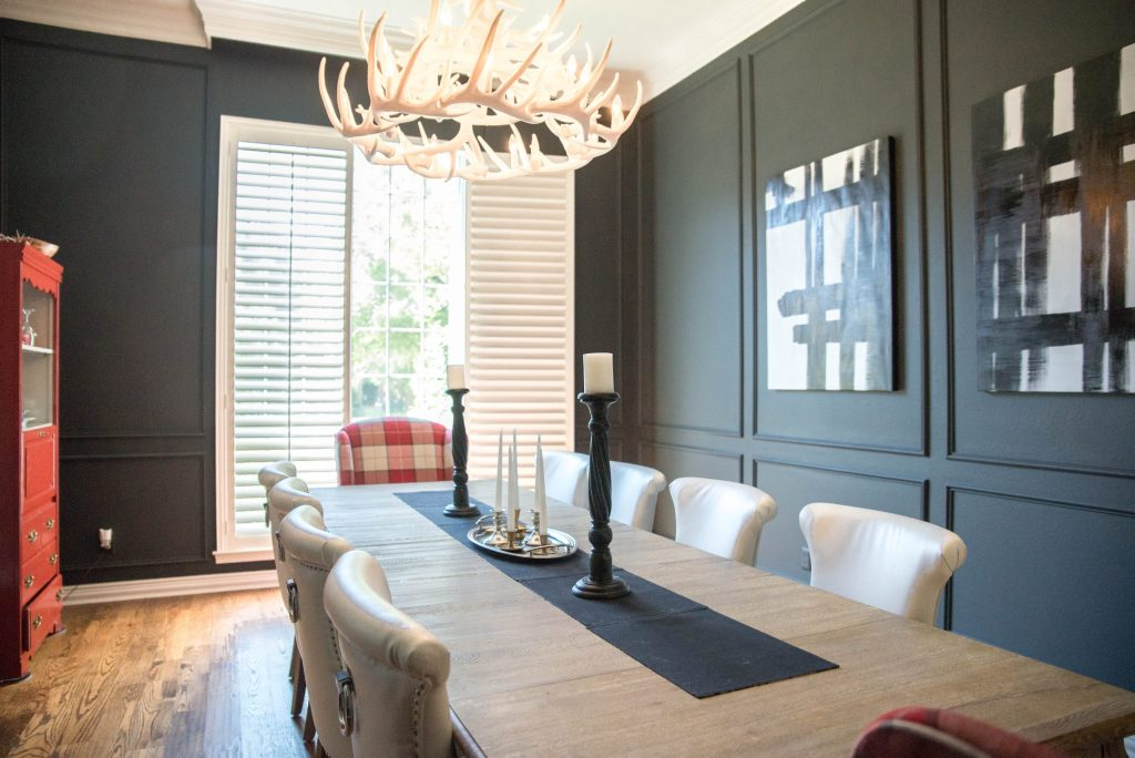 Black Paint in Dining Room