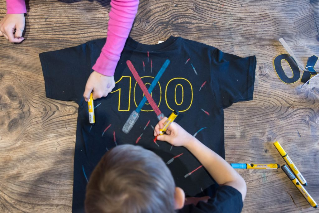 100 Days of School T-Shirt Idea