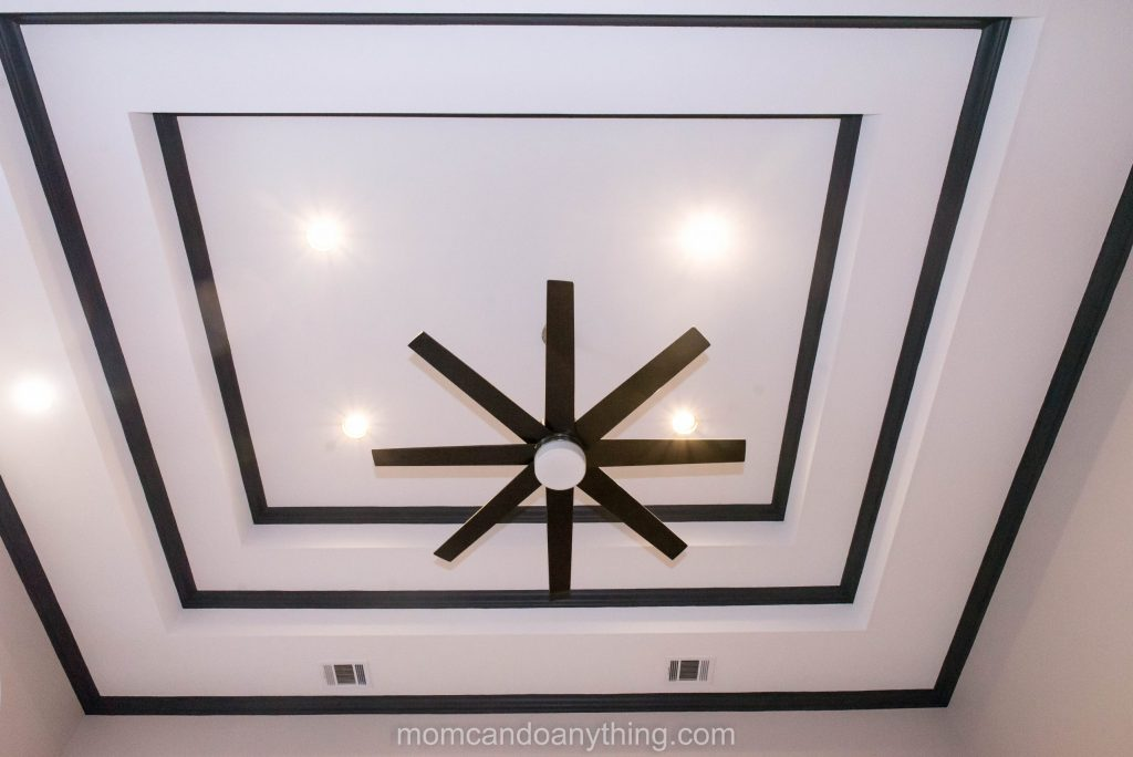 Black Trim on Tray Ceiling