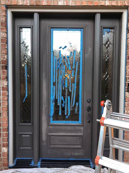 how to paint your front door to look bigger