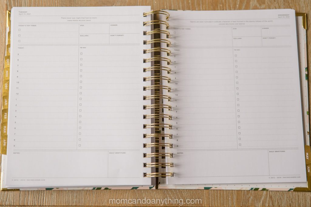 Page per day Planner