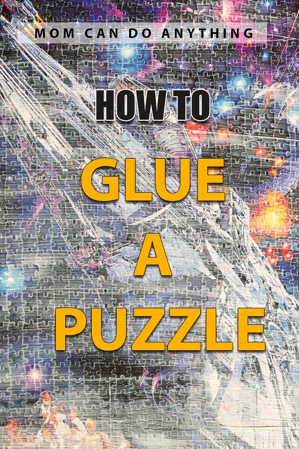 Glue a puzzle