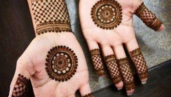 Easy Mehndi Design In Front Hand Henna For Wedding