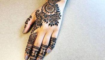 Gorgeous Back Hand Arabic Mehndi Design Back Hand Arabic Mehndi