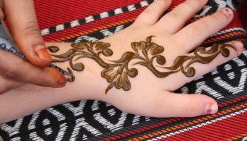 Elegant Arabic Mehndi Design for Back Hand - Back Hand