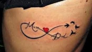 Infinity Mom Dad Tattoo Mom Dad Simple Tattoos Simple Tattoos