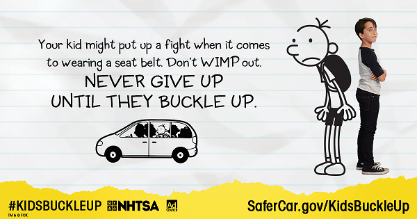 Don't Wimp Out! Remember your 1's and 3's for Car Seat Safety!
